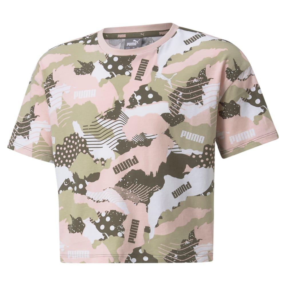 Изображение Puma Детская футболка Alpha Printed Youth Tee #1: Grape Leaf-AOP