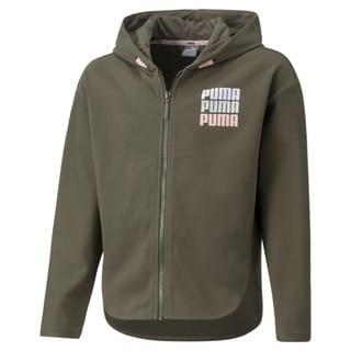Изображение Puma Детская толстовка Alpha Full-Zip Youth Jacket