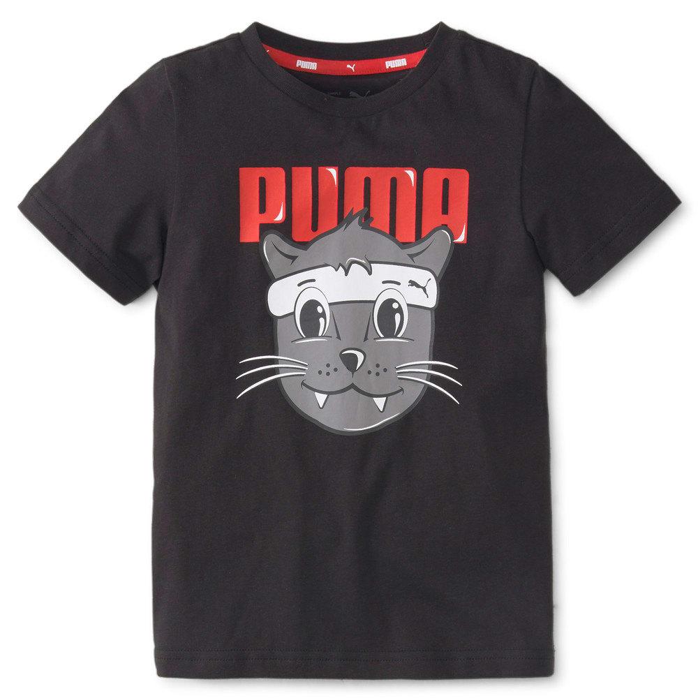 Изображение Puma Детская футболка LIL PUMA Kids' Tee #1: Puma Black