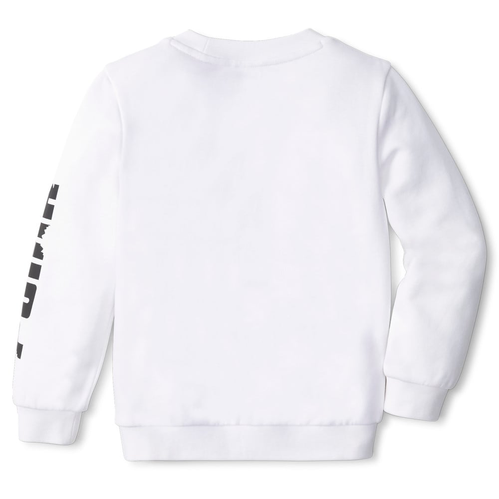 Изображение Puma Детская толстовка LIL PUMA Crew Neck Kids' Sweater #2: Puma White