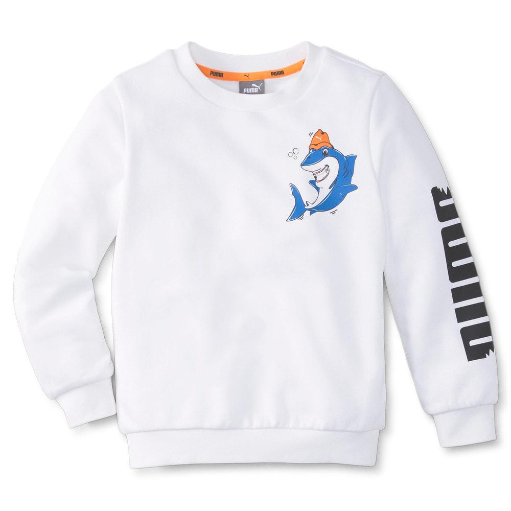 Изображение Puma Детская толстовка LIL PUMA Crew Neck Kids' Sweater #1: Puma White