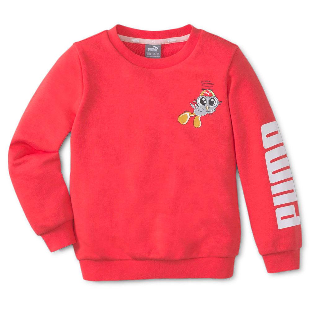 Изображение Puma Детская толстовка LIL PUMA Crew Neck Kids' Sweater #1: Paradise Pink