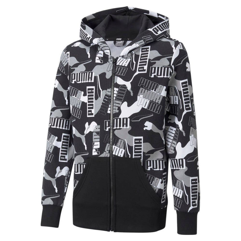 Image Puma Alpha Printed Full-Zip Youth Jacket #1