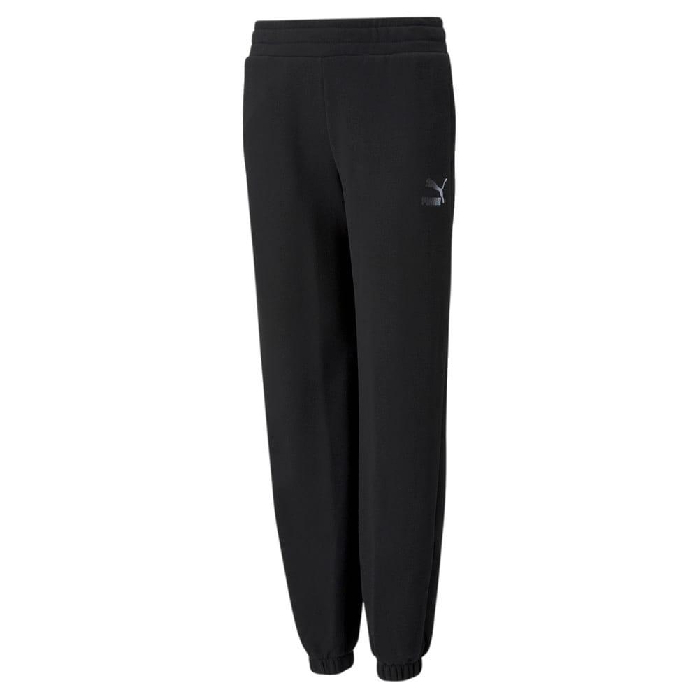 Imagen PUMA Pantalones deportivos juveniles de corte holgado GRL #1