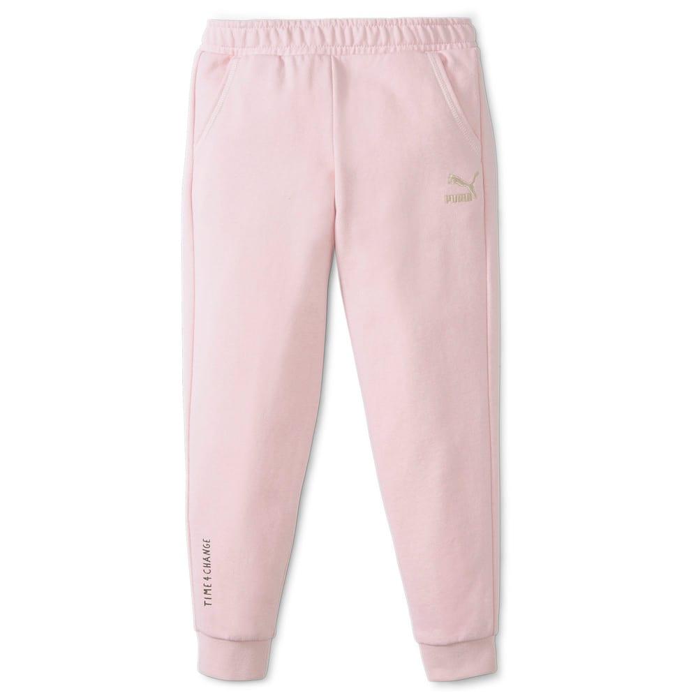 Изображение Puma Детские штаны T4C Kid's Sweatpants #1: Lotus