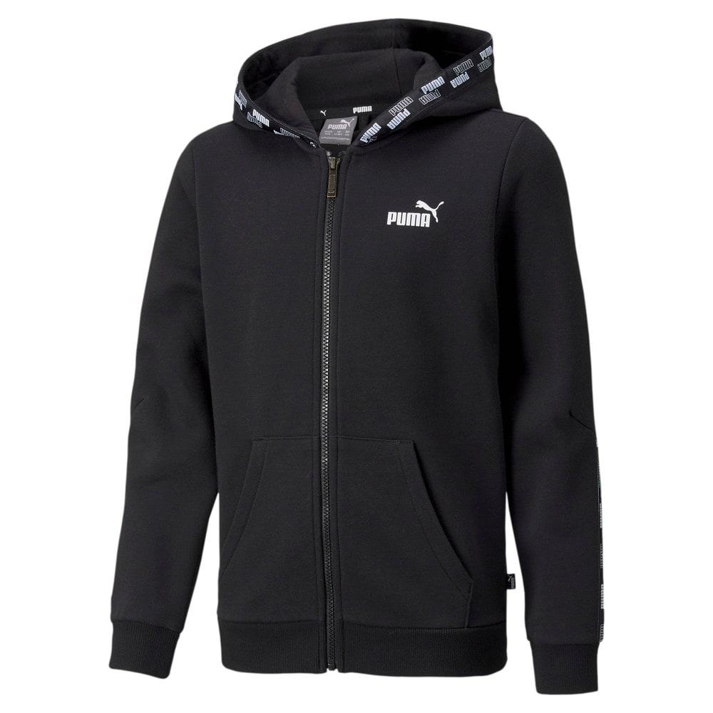 Зображення Puma Дитяча толстовка Power Full-Zip Youth Hoodie #1: Puma Black