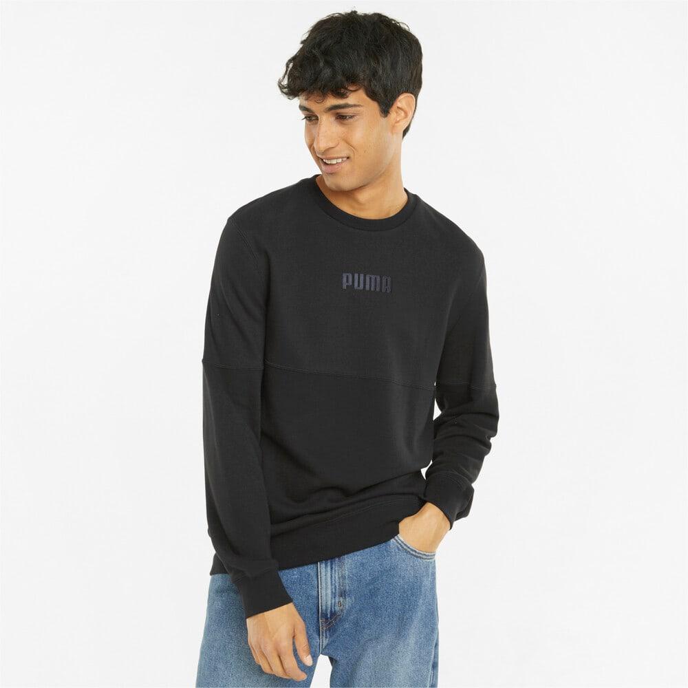 Изображение Puma Толстовка Modern Basics Crew Neck Men's Sweatshirt #1: Puma Black