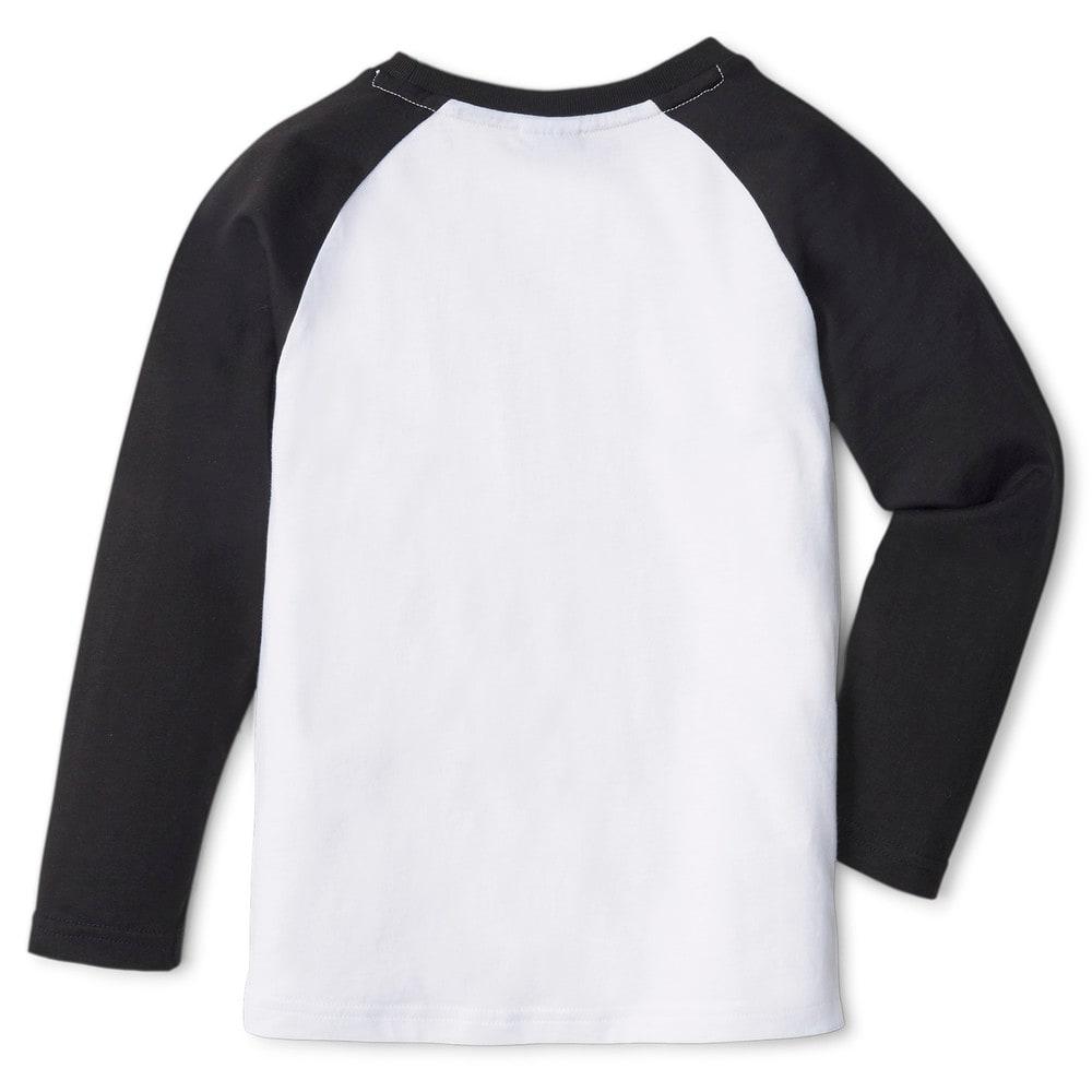 Изображение Puma Детская футболка с длинным рукавом PUMA x PEANUTS Long Sleeve Kids' Tee #2: Puma Black