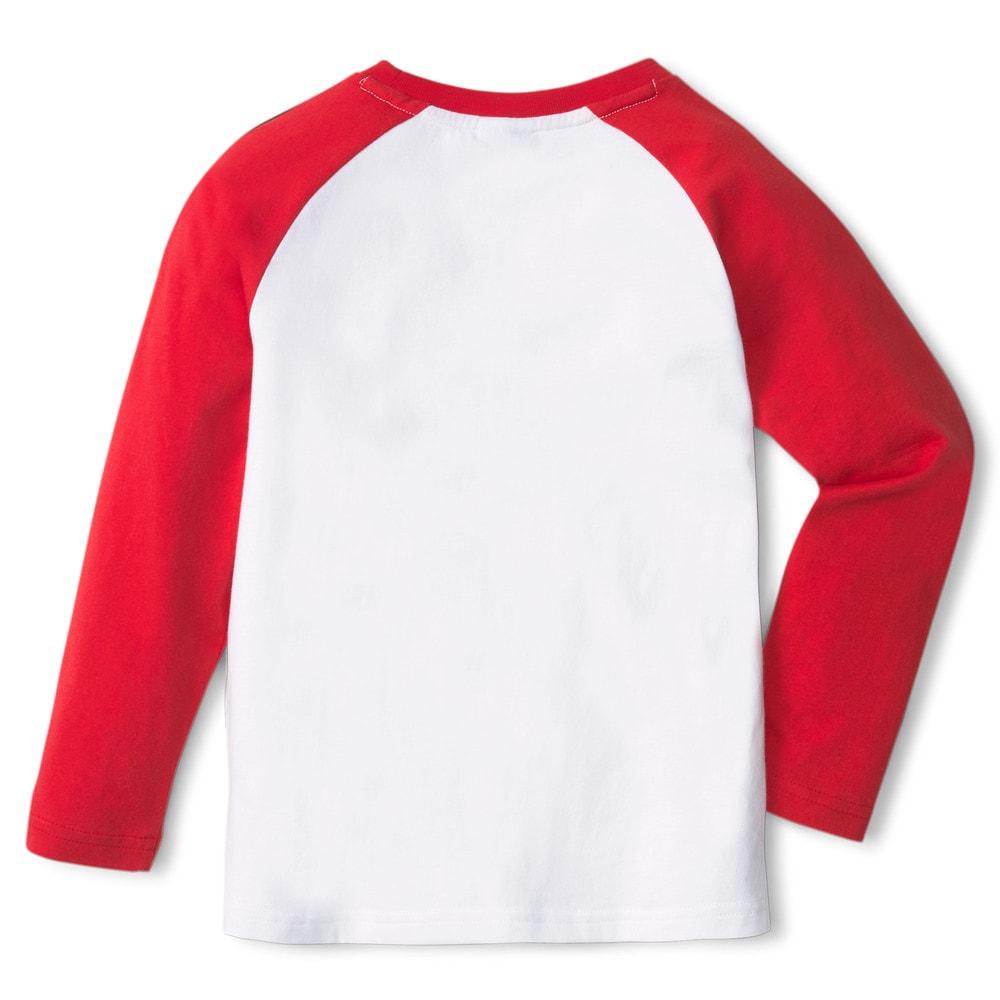 Изображение Puma Детская футболка с длинным рукавом PUMA x PEANUTS Long Sleeve Kids' Tee #2: Urban Red
