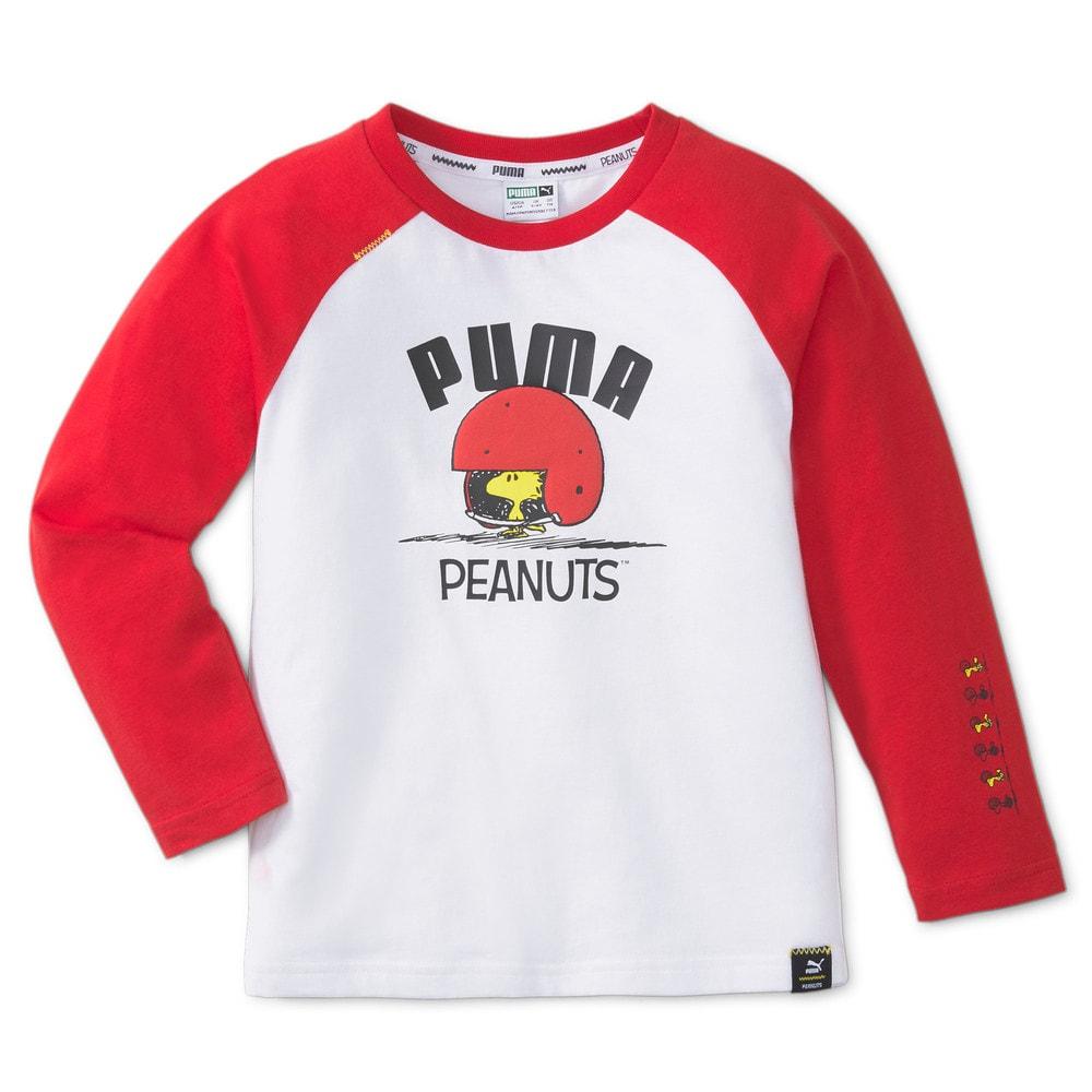Изображение Puma Детская футболка с длинным рукавом PUMA x PEANUTS Long Sleeve Kids' Tee #1: Urban Red