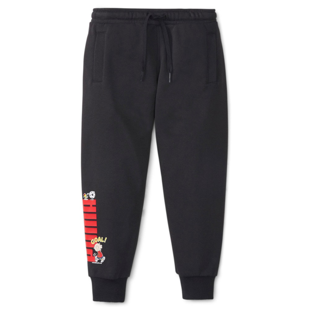 Зображення Puma Дитячі штани PUMA x PEANUTS Kids' Sweatpants #1: Puma Black