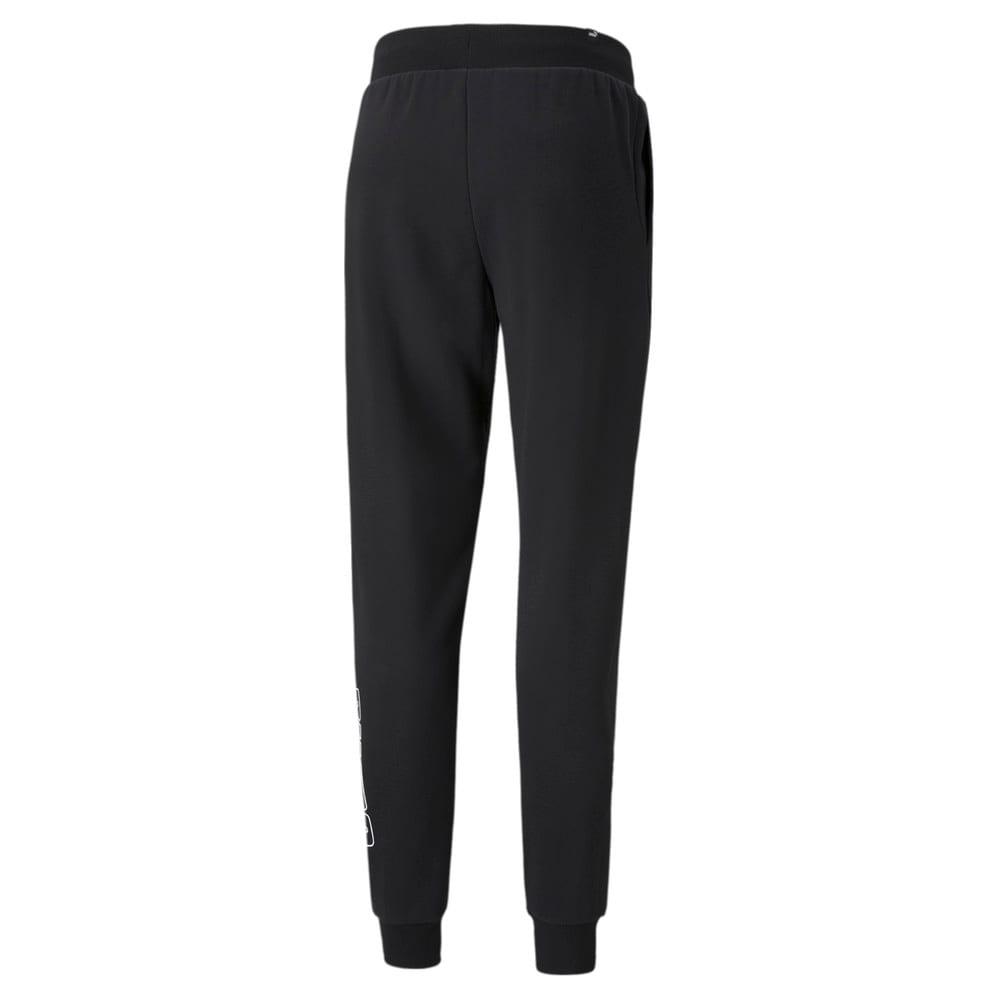 Зображення Puma Штани Power Men's Sweatpants #2: Puma Black-Green Flash