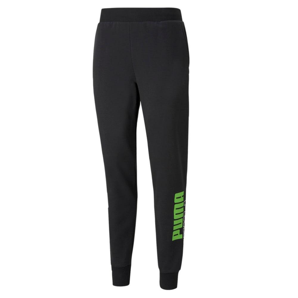 Зображення Puma Штани Power Men's Sweatpants #1: Puma Black-Green Flash