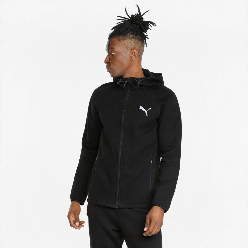 Görüntü Puma EVOSTRIPE Fermuarlı Erkek Kapüşonlu Sweatshirt #1
