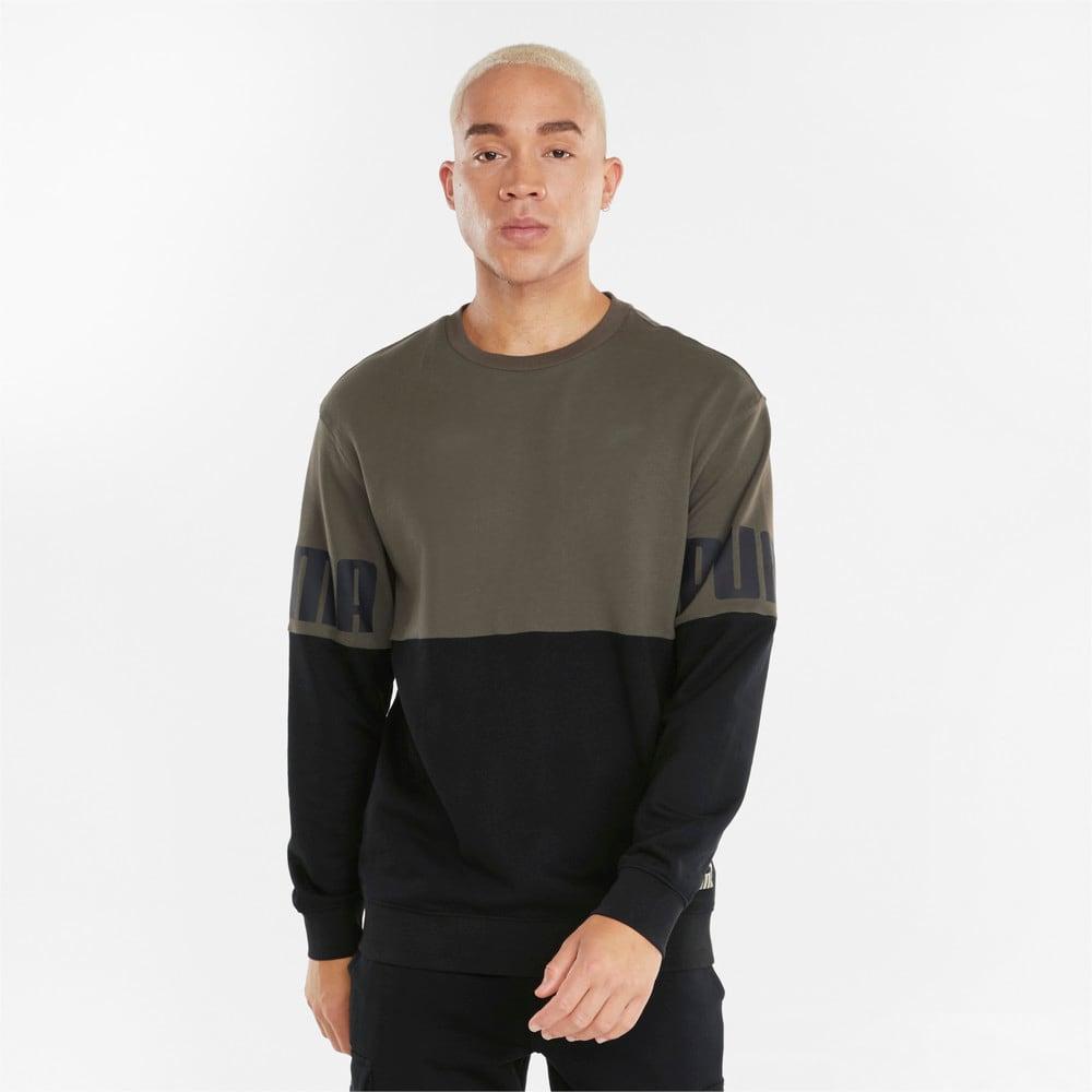 Зображення Puma Толстовка Power Colourblock Crew Neck Men's Sweatshirt #1: Grape Leaf