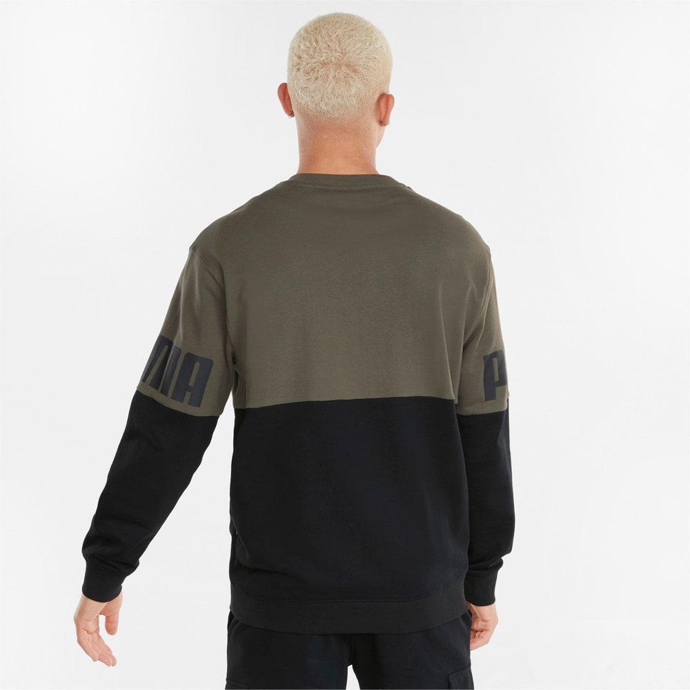 Imagen PUMA Polerón de cuello redondo con colores en bloque para hombre Power #2