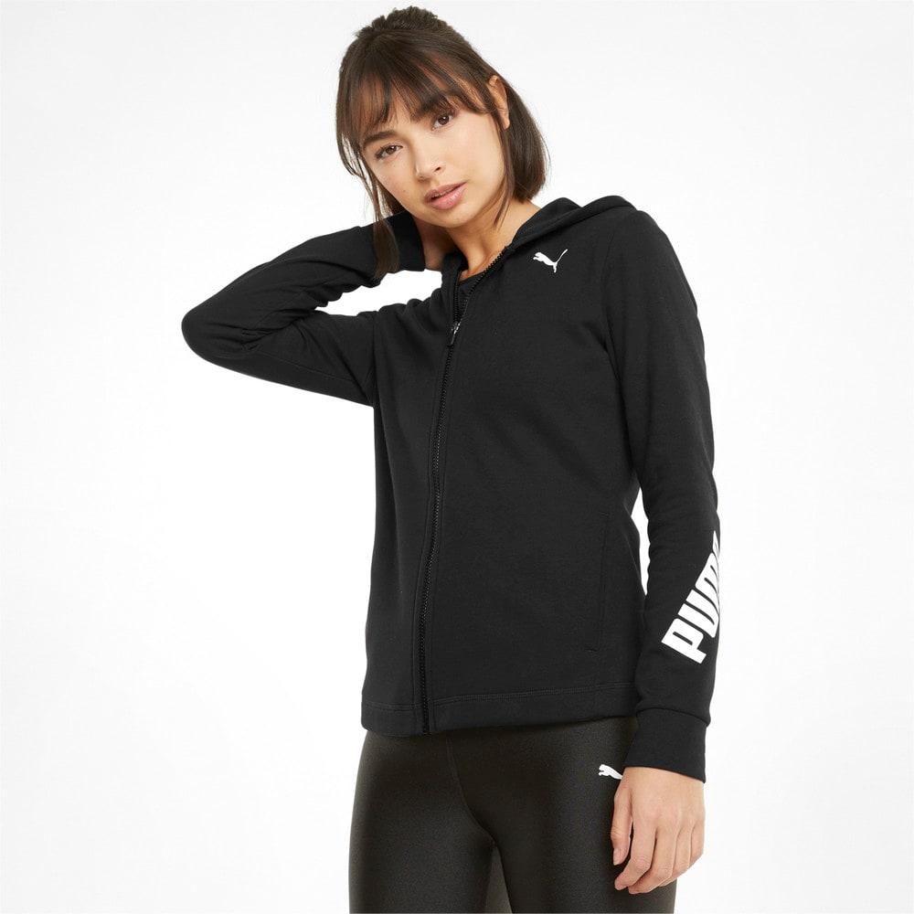 Görüntü Puma Modern Sports Fermuarlı Kadın Kapüşonlu Sweatshirt #1