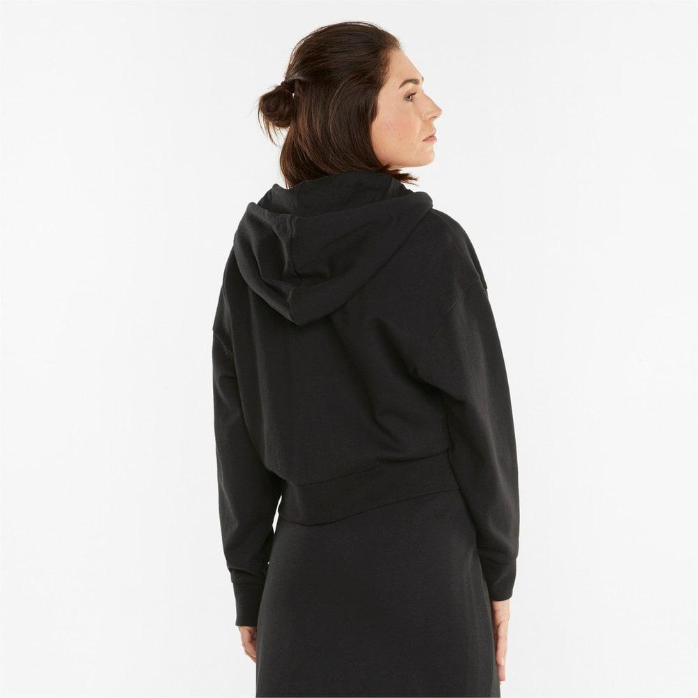Изображение Puma Толстовка HER French Terry Full-Zip Women's Hoodie #2: Puma Black