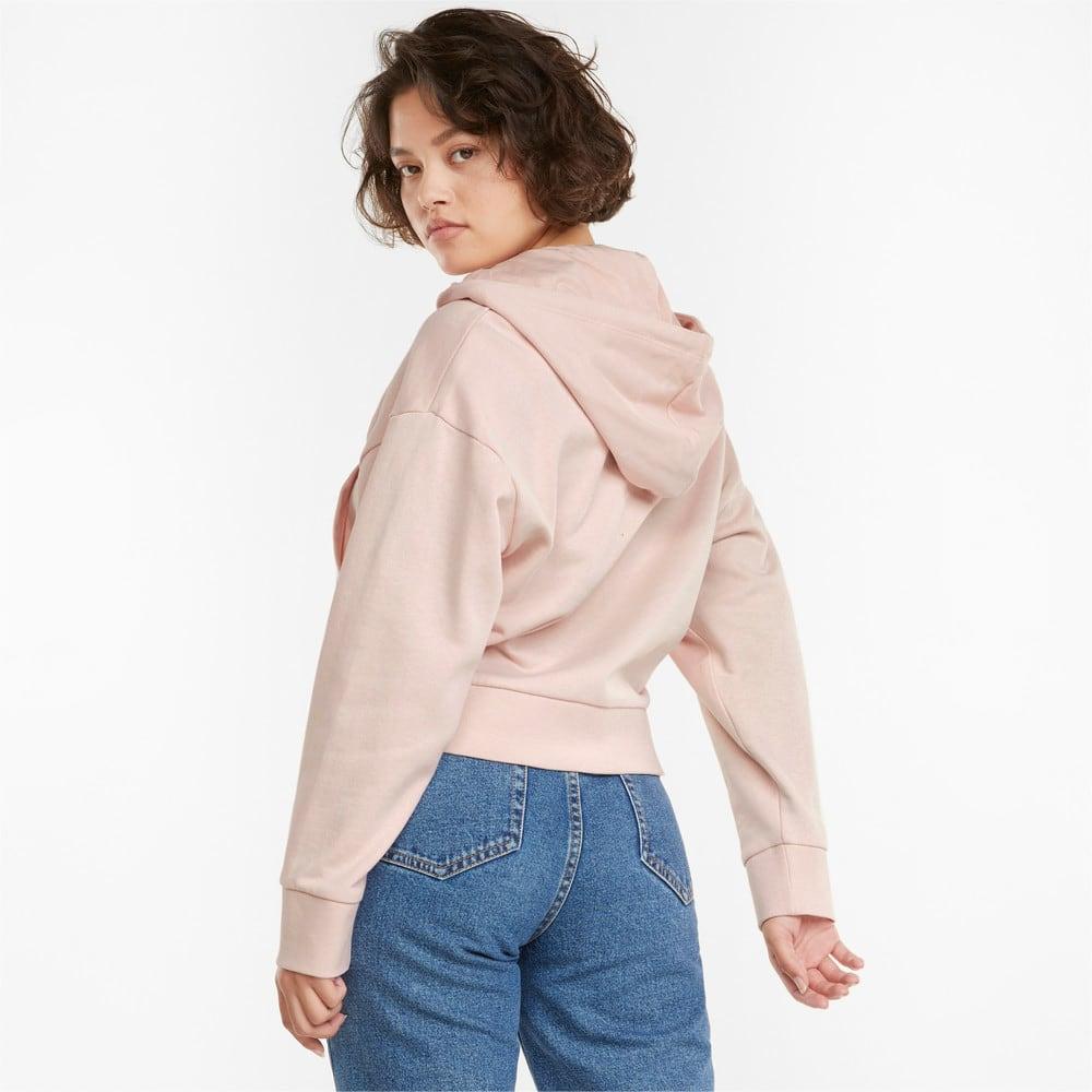 Imagen PUMA Chaqueta de felpa francesa con capucha y cierre completo para mujer HER #2
