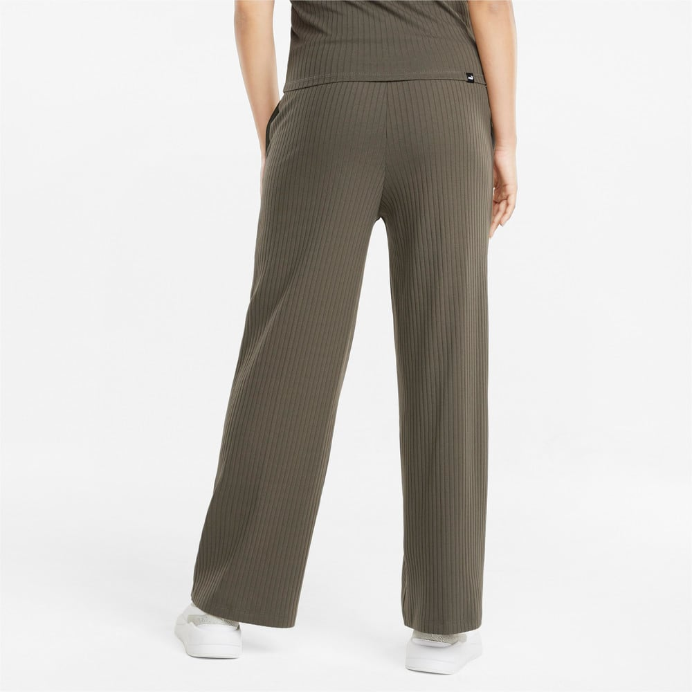 Image Puma HER Ribbed Wide Women's Pants #2