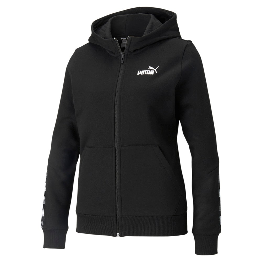 Изображение Puma Толстовка POWER Full-Zip Women's Hoodie #1: Puma Black
