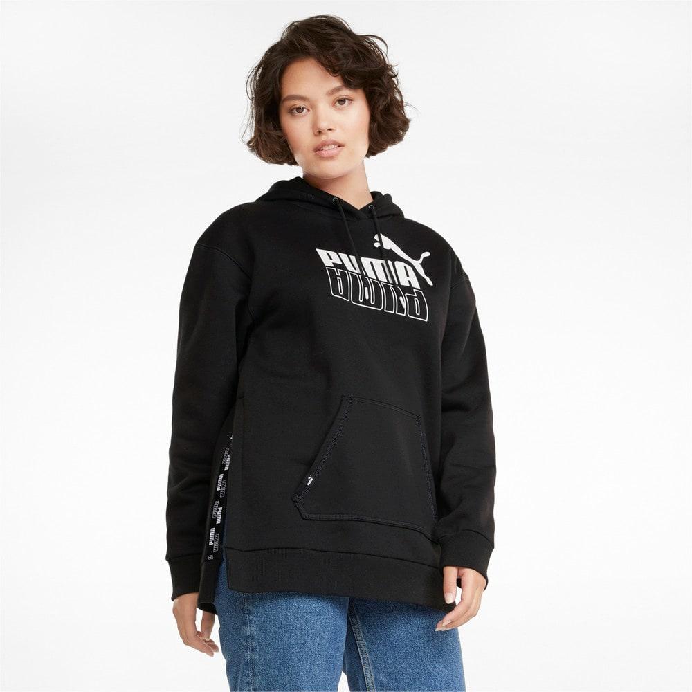 Зображення Puma Толстовка POWER Elongated Women's Hoodie #1: Puma Black