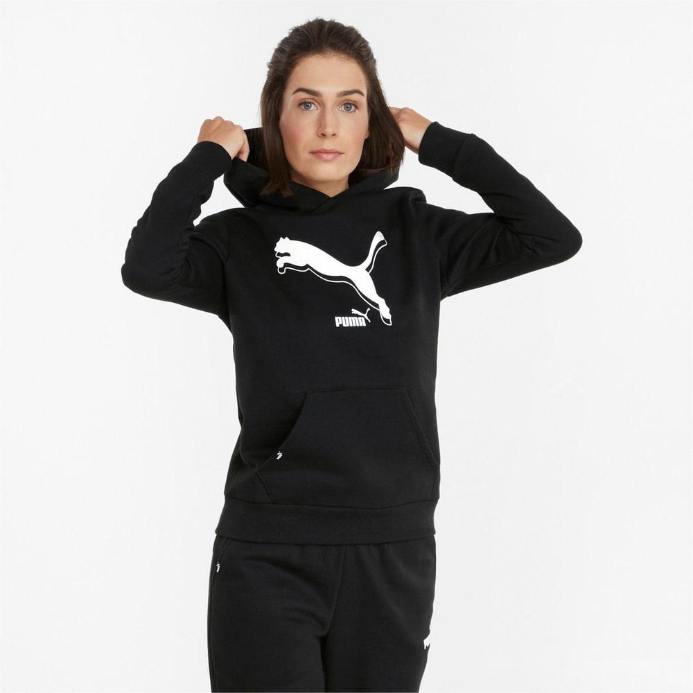 Изображение Puma Толстовка POWER Logo Women's Hoodie #1: Puma Black