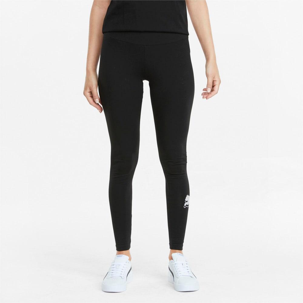 Изображение Puma Леггинсы Power Logo Women's Leggings #1: Puma Black