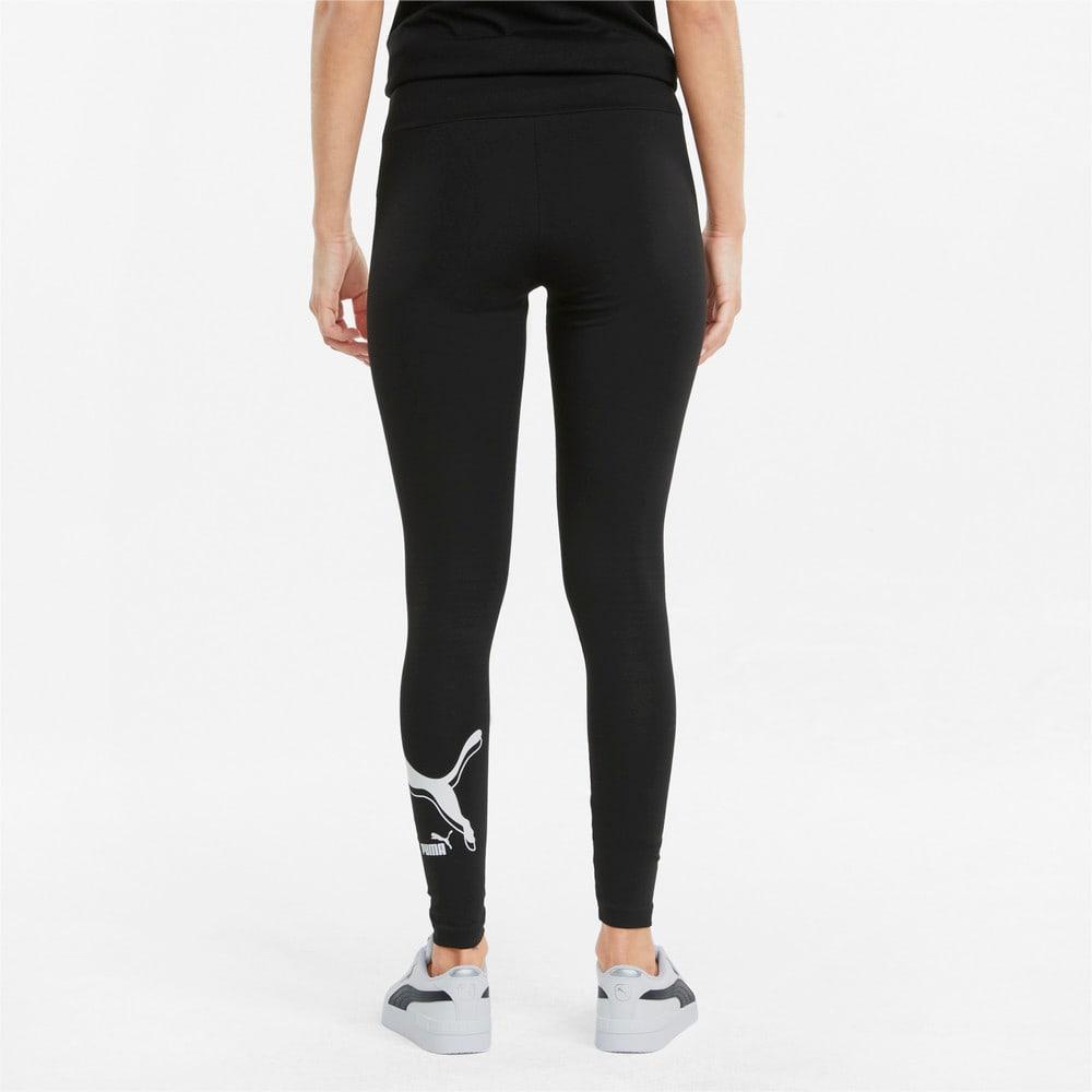 Изображение Puma Леггинсы Power Logo Women's Leggings #2: Puma Black