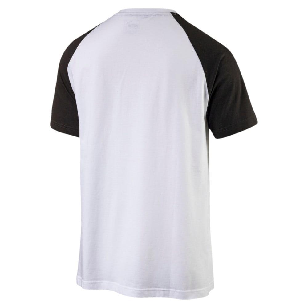 Görüntü Puma ESSENTIAL No.1 Logo Raglan Erkek T-Shirt #2