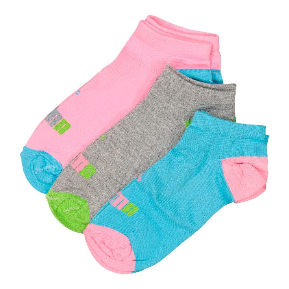 Image Puma 3 Pack Multi colour secret sock #1