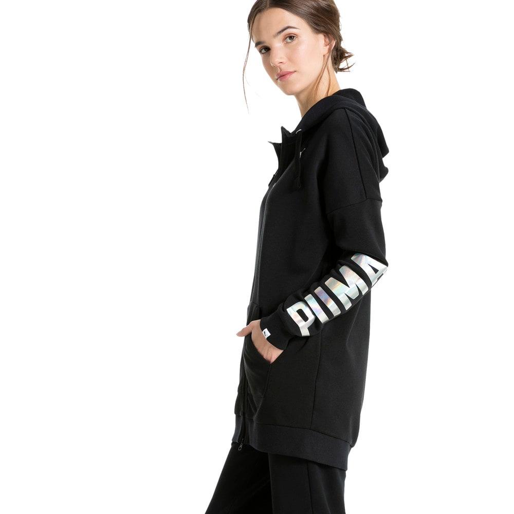 Görüntü Puma FUSION Elongated Fermuarlı Kapüşonlu Kadın Sweatshirt #2