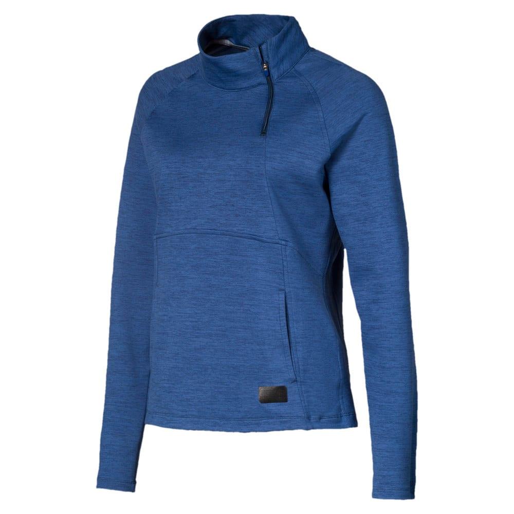 Image Puma Warm Up Quarter Zip Women's Golf Sweater #1