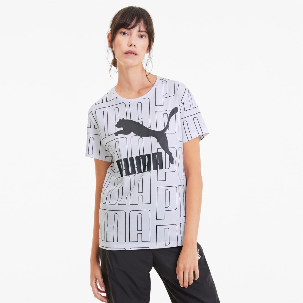 Görüntü Puma Wordmark Desenli Kadın T-Shirt #1