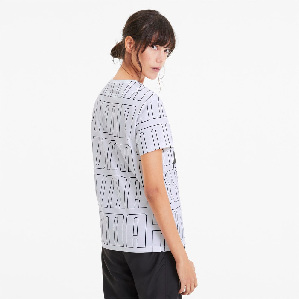 Görüntü Puma Wordmark Desenli Kadın T-Shirt #2