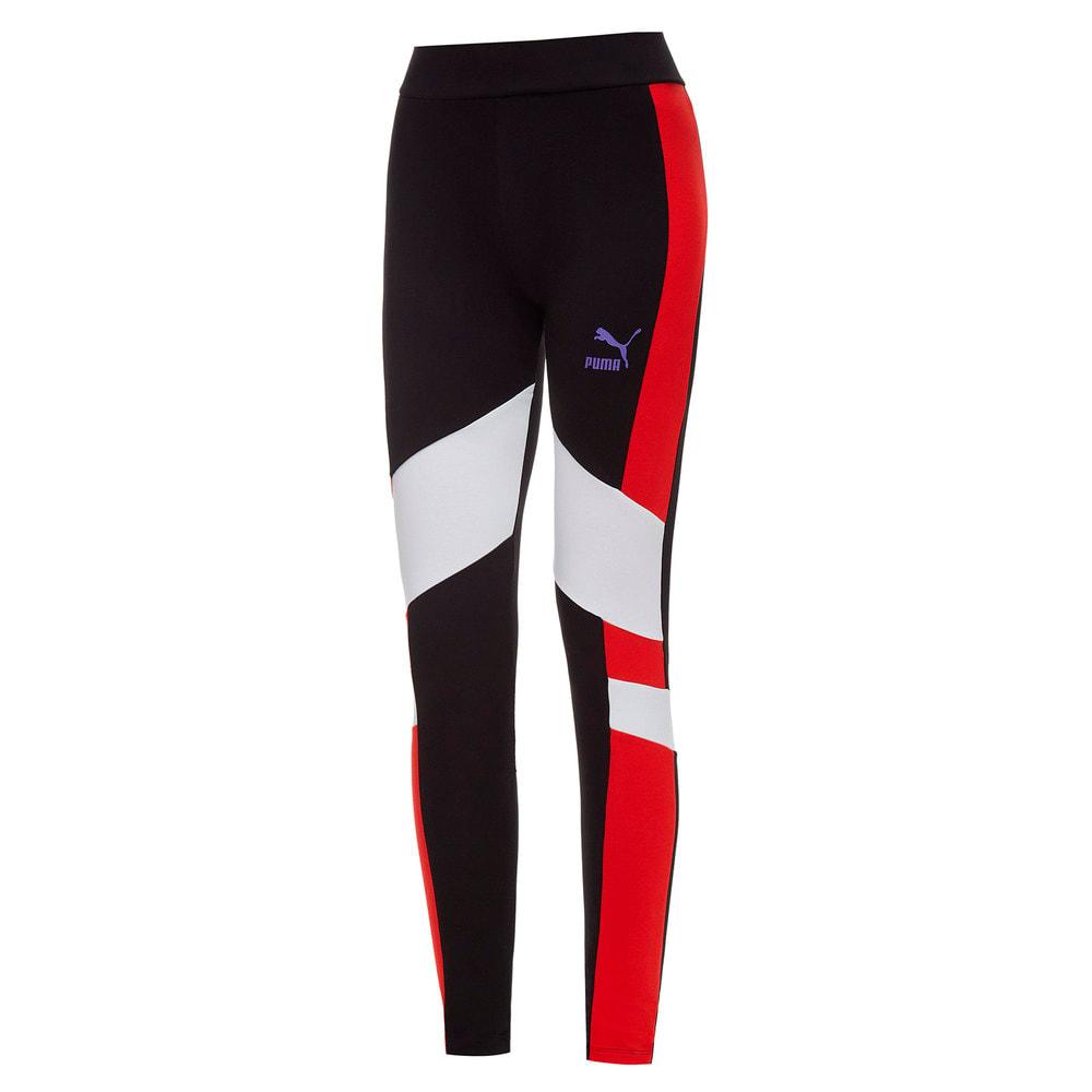 Изображение Puma Леггинсы TFS Legging #1: Puma Black-Puma White-High Risk Red-Luminous Purple