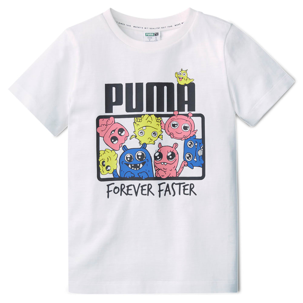 Изображение Puma Детская футболка Monster Tee #1: Puma White