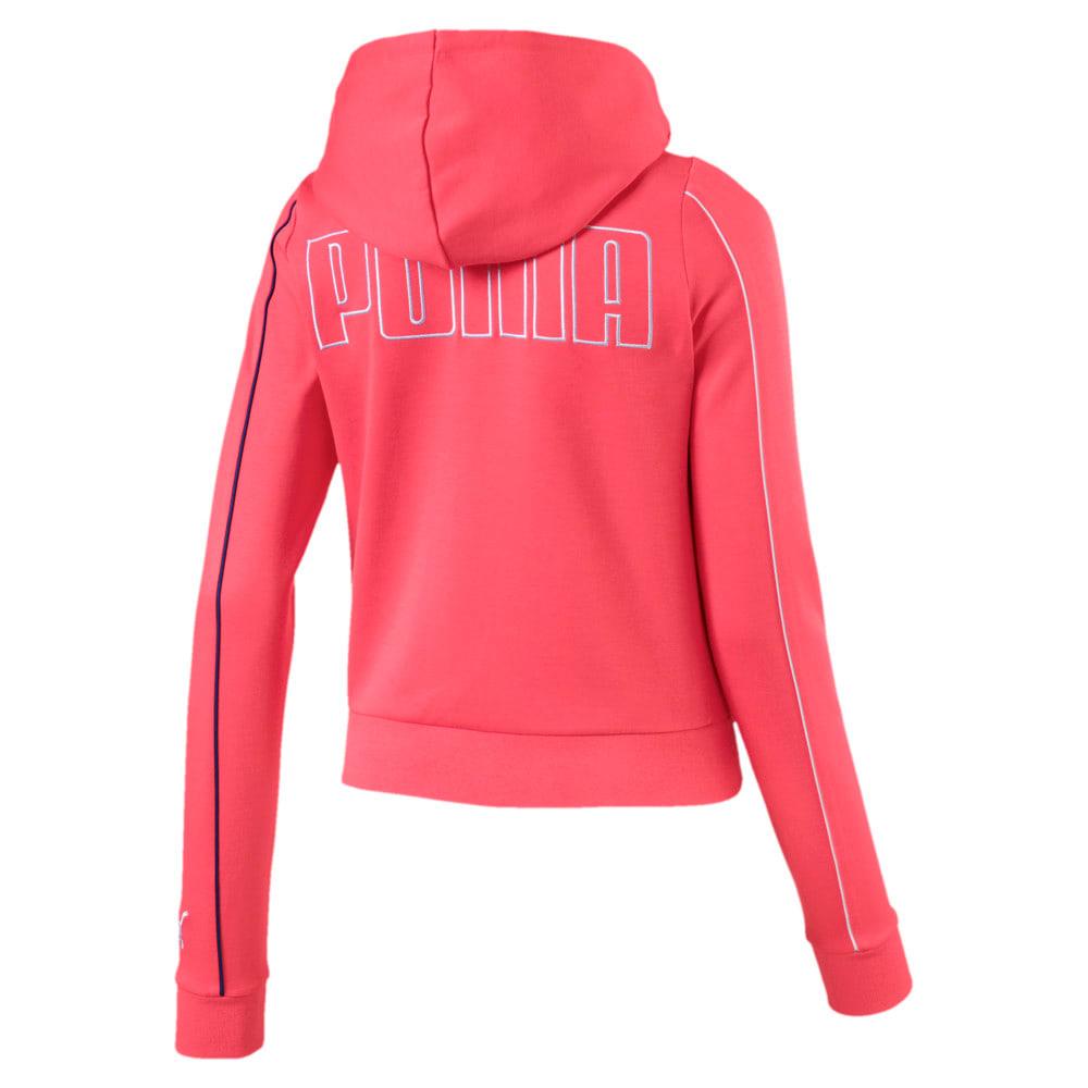 Imagen PUMA Polerón con capucha y cierre completo Colour Block Knitted para mujer #2