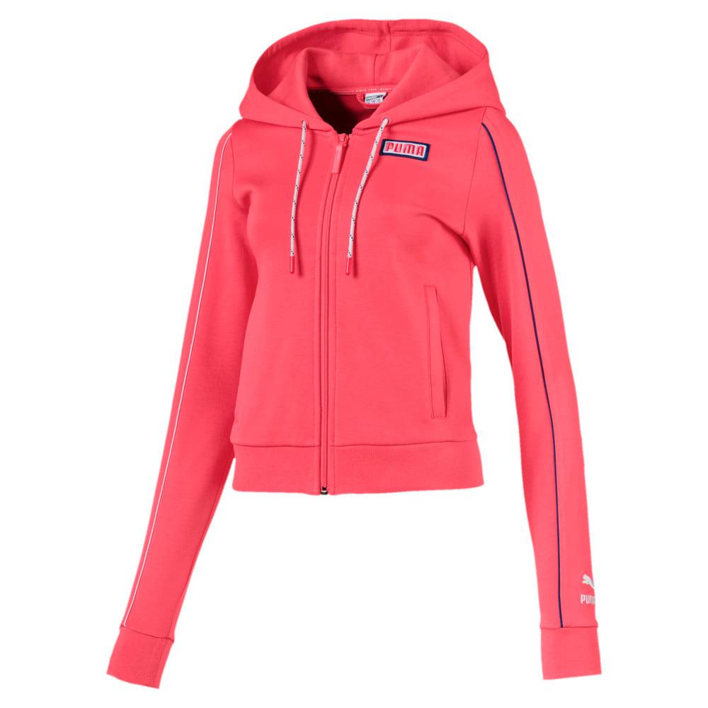 Imagen PUMA Polerón con capucha y cierre completo Colour Block Knitted para mujer #1