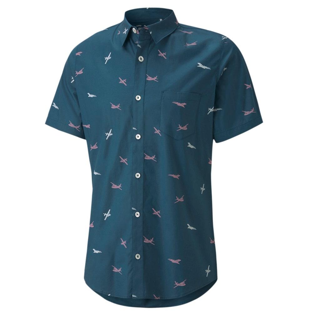 Image Puma Woven Citation Print Men's Golf Shirt #1