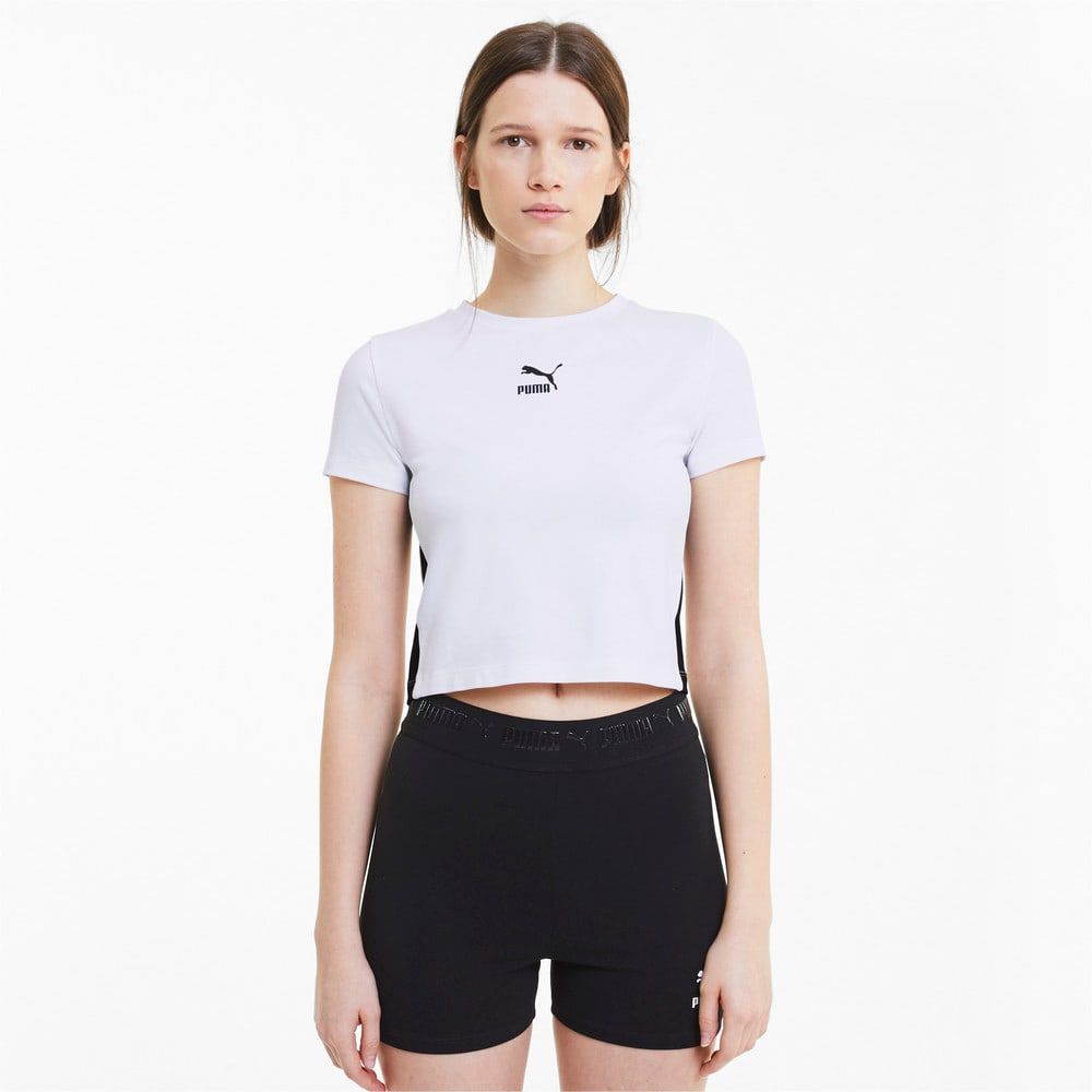 Image Puma Classics Cropped Short Sleeve Women's Tee #1