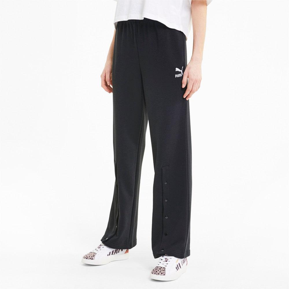 Imagen PUMA Pantalones deportivos de corte recto Classics para mujer #1