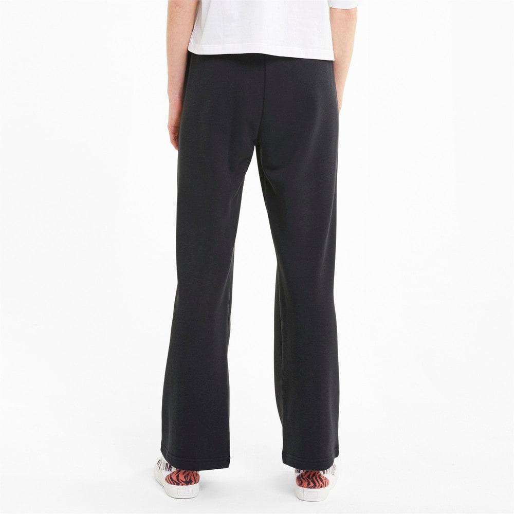 Imagen PUMA Pantalones deportivos de corte recto Classics para mujer #2