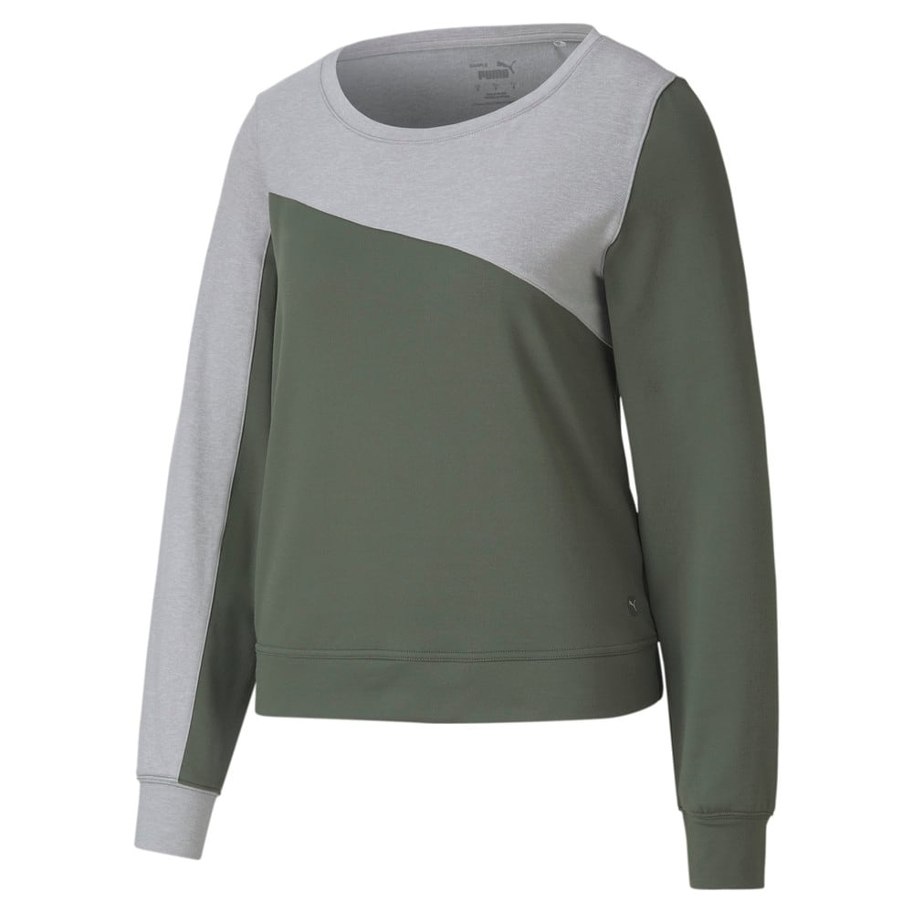 Image Puma CLOUDSPUN Colour Block Crew Neck Women's Golf Sweater #1