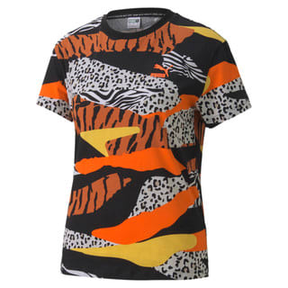 Image PUMA Camiseta Classics AOP Logo Feminina