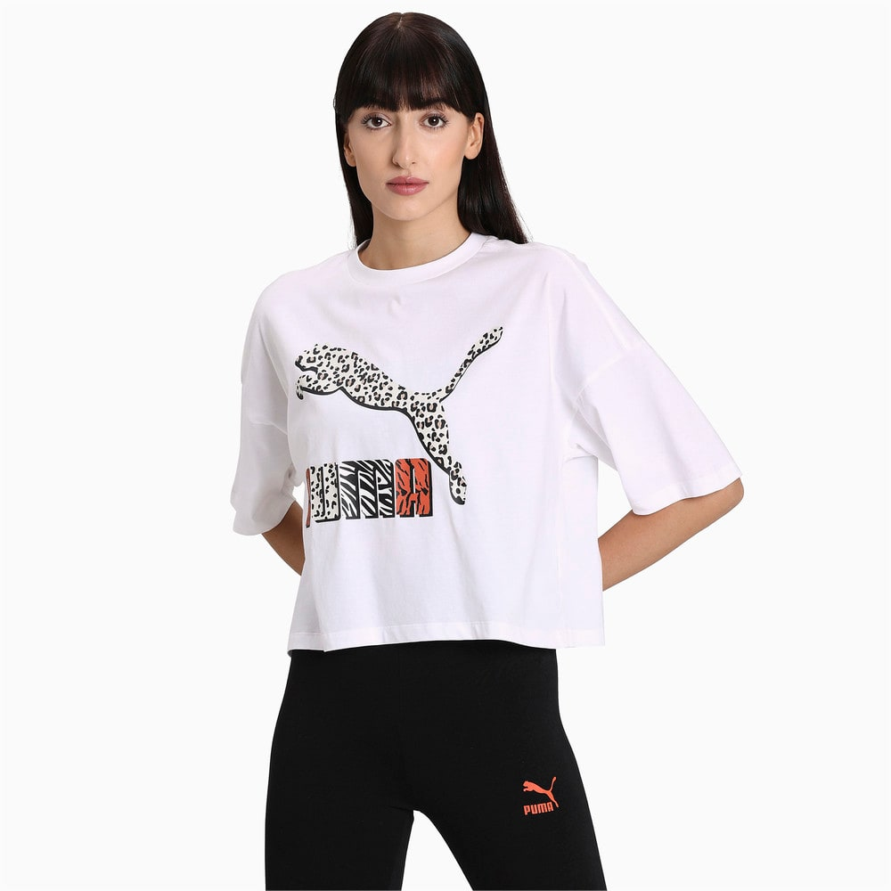 Image PUMA Camiseta Classics Loose Fit Feminina #1