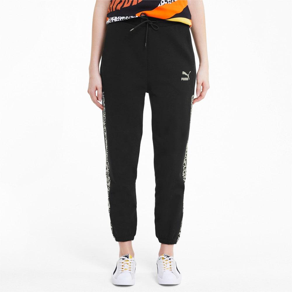 Imagen PUMA Pantalones deportivos de tejido de punto Classics Graphic para mujer #1