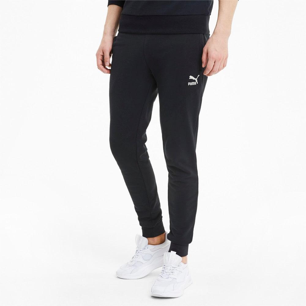 Pantalones Deportivos Con Puno Ajustado Classics Para Hombre Negro Puma