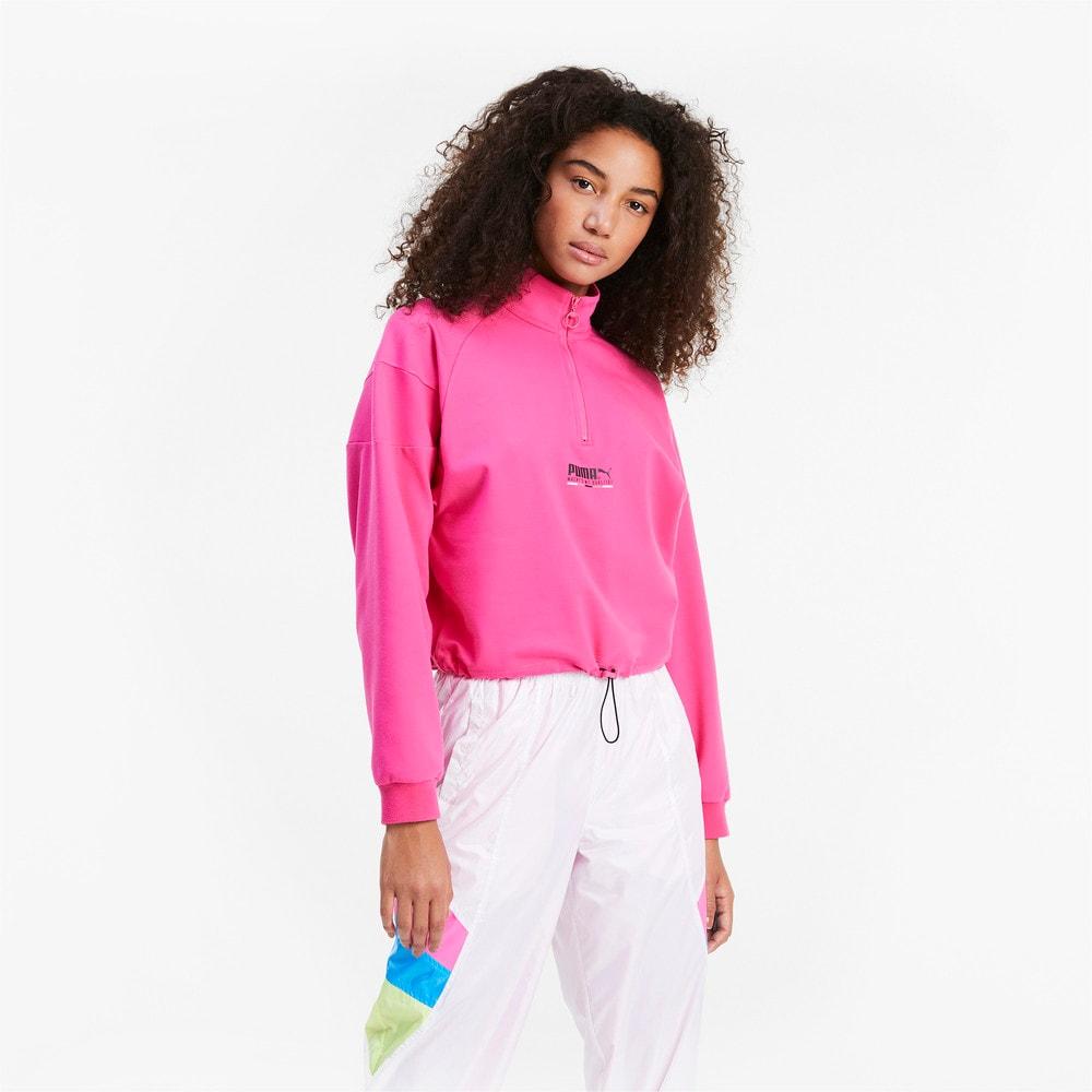Görüntü Puma TAILORED FOR SPORT Yarım Fermuarlı Kadın Sweatshirt #1