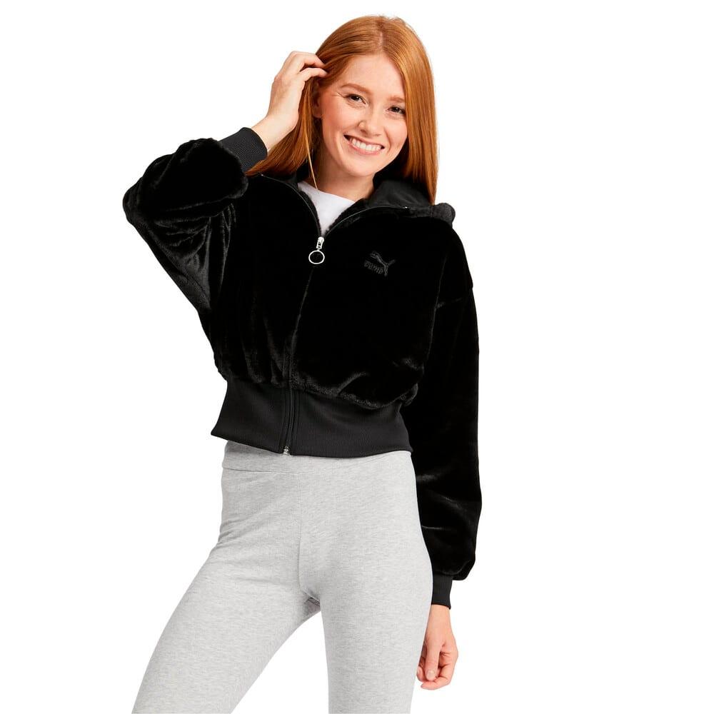 Imagen PUMA Polar con capucha con cierre completo Winter Classics para mujer #1
